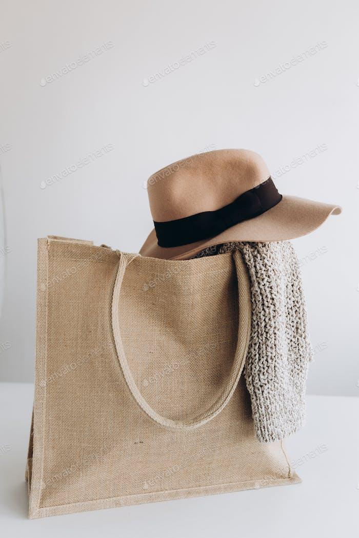 stoff eco shopping bag set kleidung zubehör