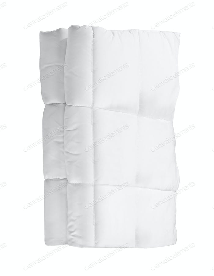 white blanket isolated