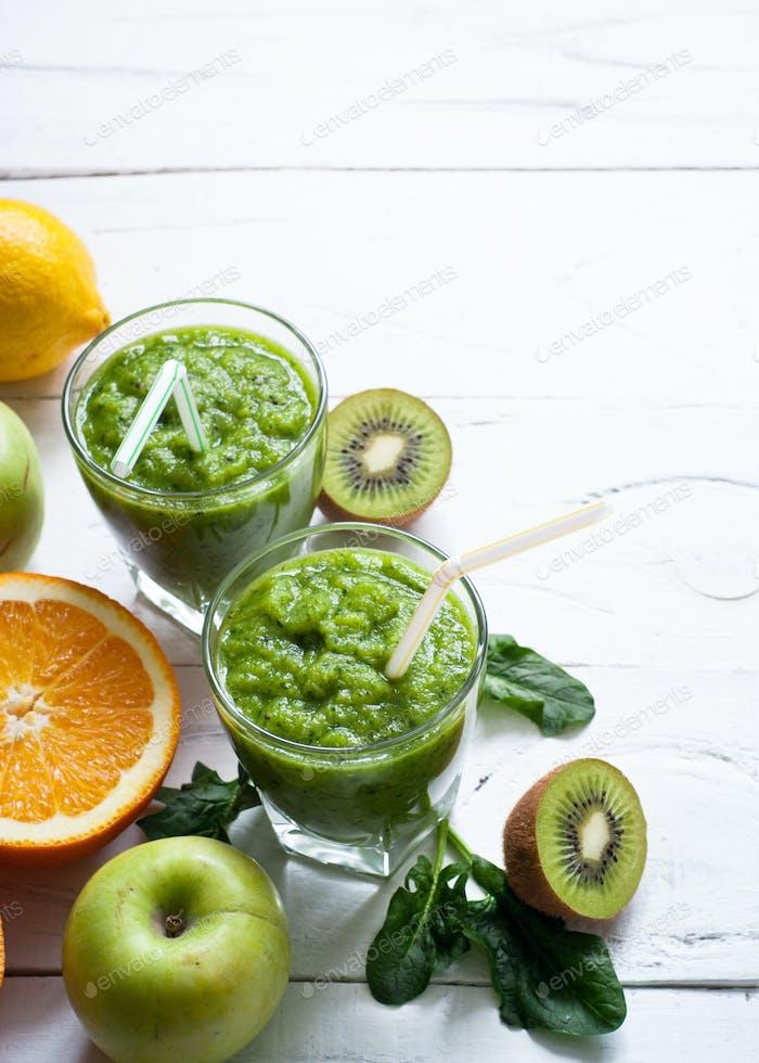 Fresh green smoothie