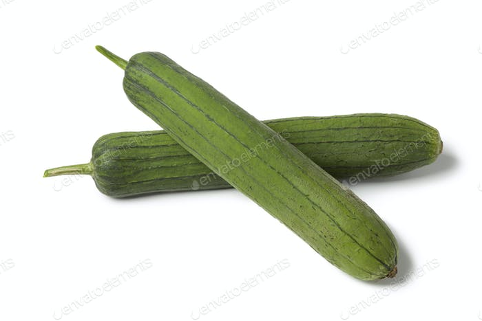 Whole fresh sponge gourds