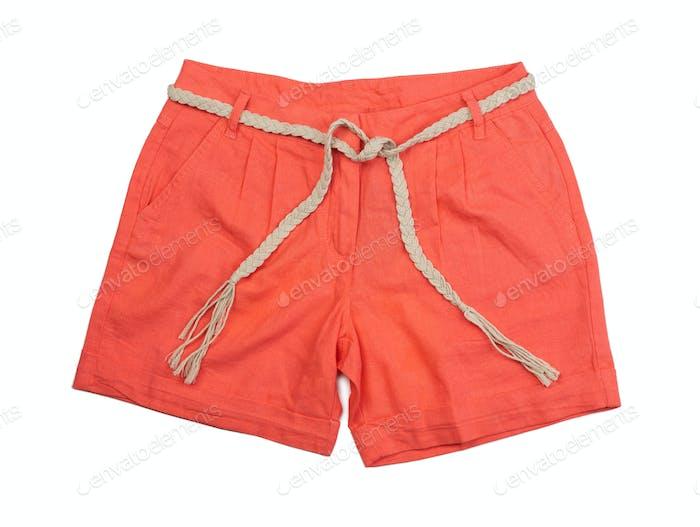 Bright coral shorts