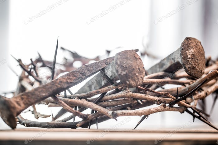 The crown of thorns and nails