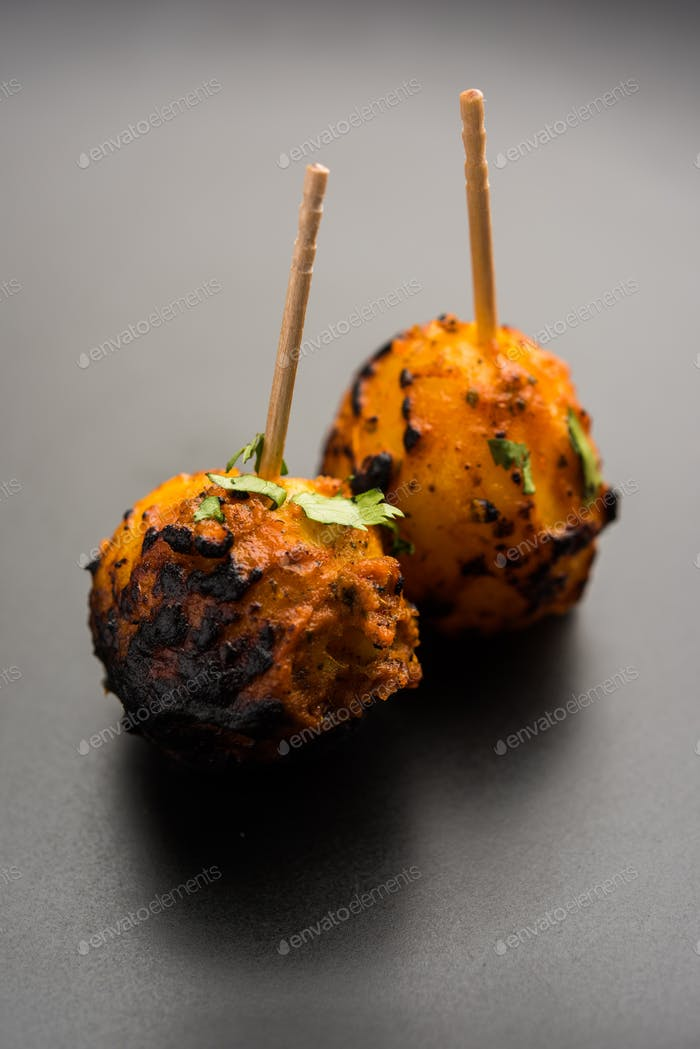 Roasted Potato known as Tandoori Aloo in India