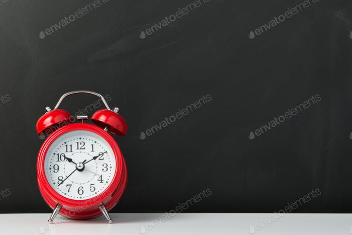 Red alarm clock