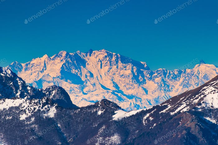 Monte rosa on the alps