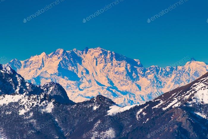 Monte rosa auf den Alpen