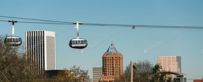 Aerial Tramway Portland Oregon Downtown City Skyline Cable Cars