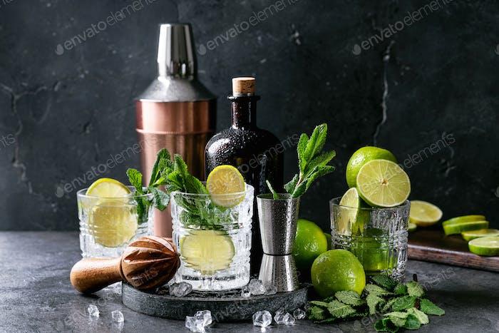 Home made mojito cocktail