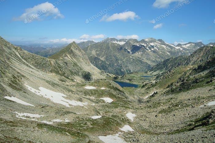 Small glacial lakes in Aiguestortes