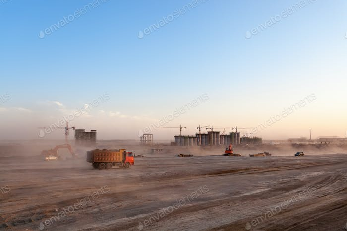 the construction site of coal preparation factory