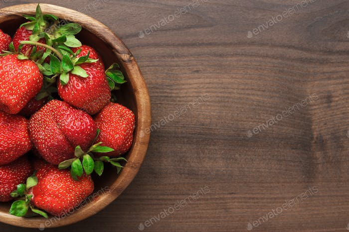 Strawberries On The Wooden Table