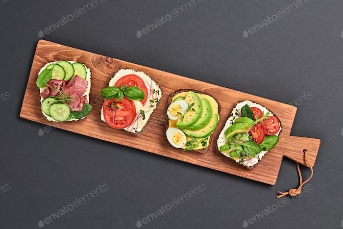 Offene Sandwiches