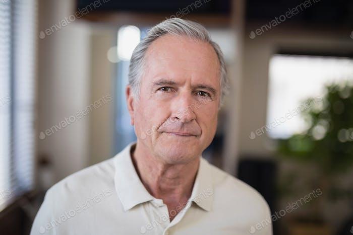 Portrait of senior male patient