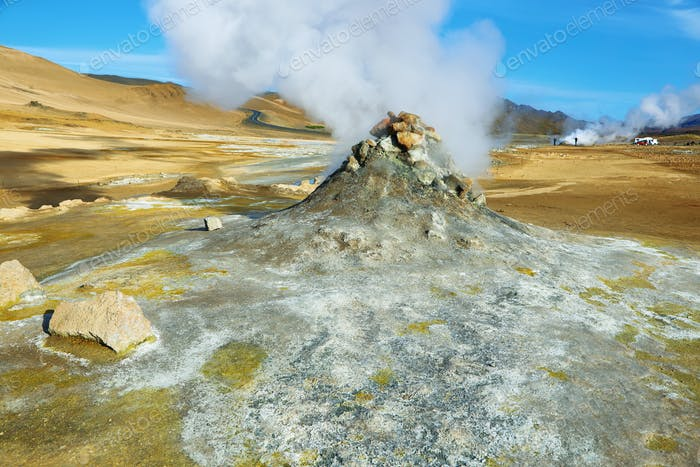 Landscape in the geothermal area Hverir