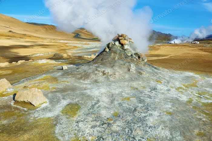 Landschaft im Geothermiegebiet Hverir