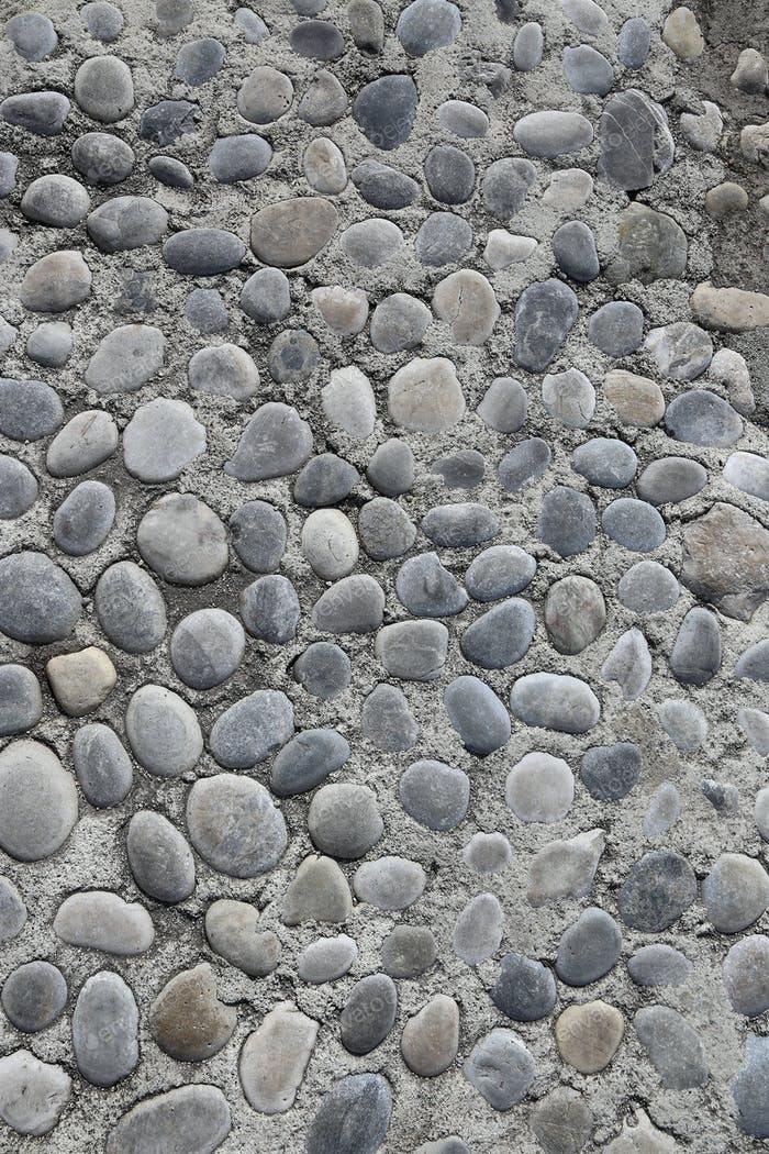 Hintergrund mit runden Steinen