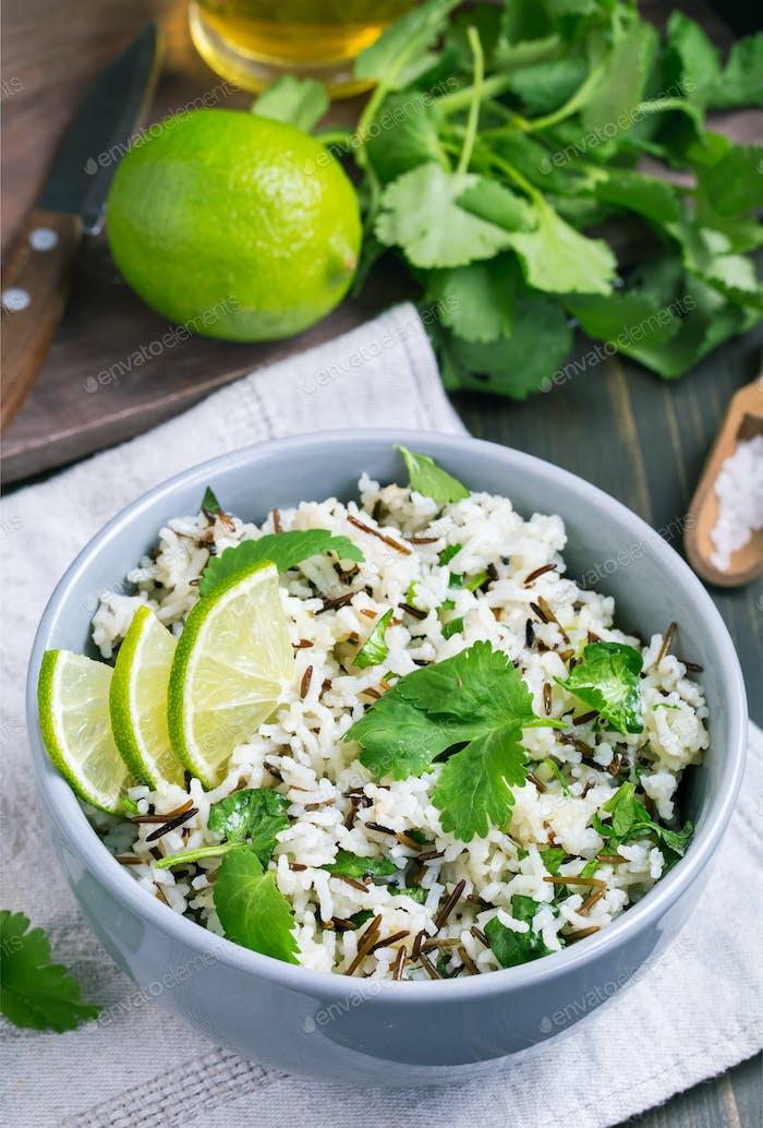 Cilantro and lime basmati rice