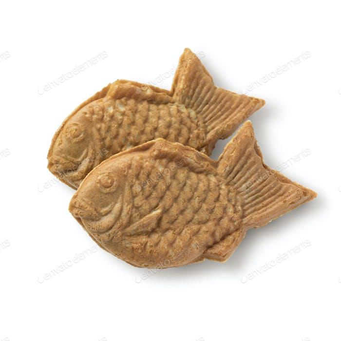 Fresh baked Taiyaki, Japanese fish shaped cake