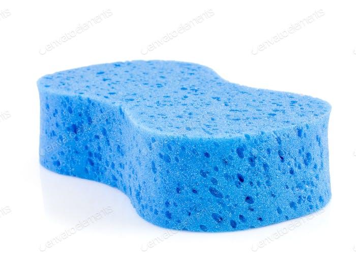 Blue sponge on white-6