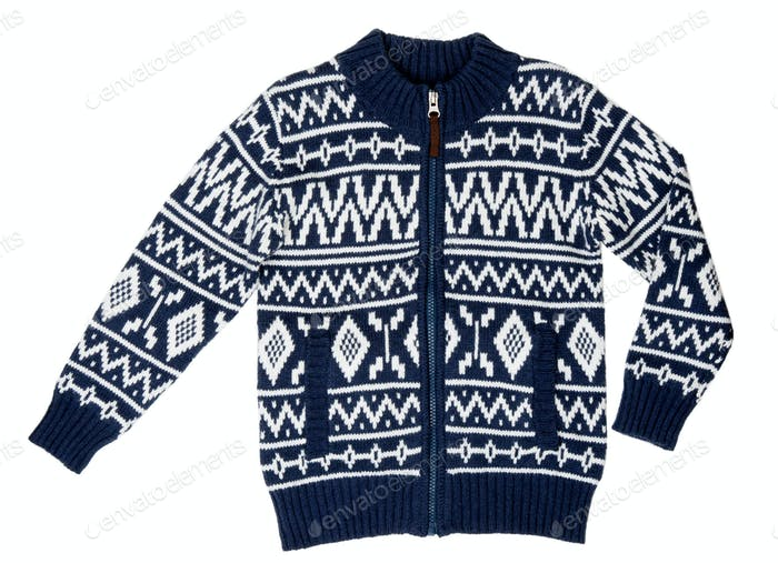 a winter sweater with a pattern
