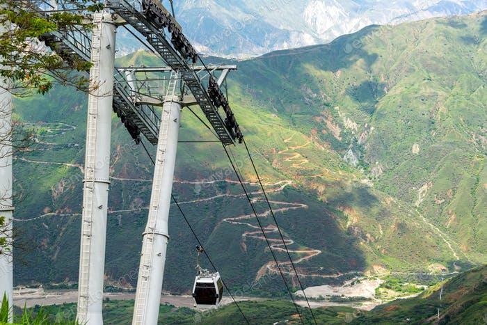 Aerial Tram in Chicamocha Canyon