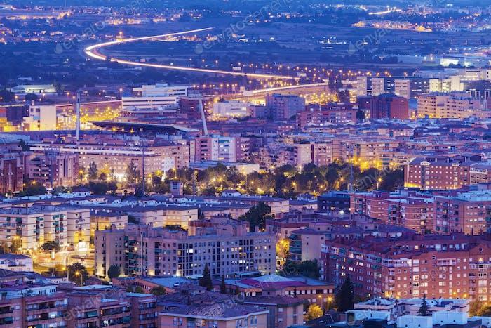 Panorama of Granada - aerial panorama of the city