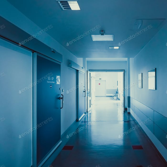 Krankenhaus Korridor. Krankenhaus Flur. Krankenhaus Innenraum