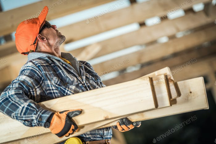 Wooden House Structure Frame Work Job