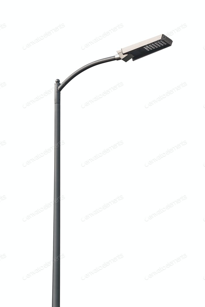Led street lantern on white background