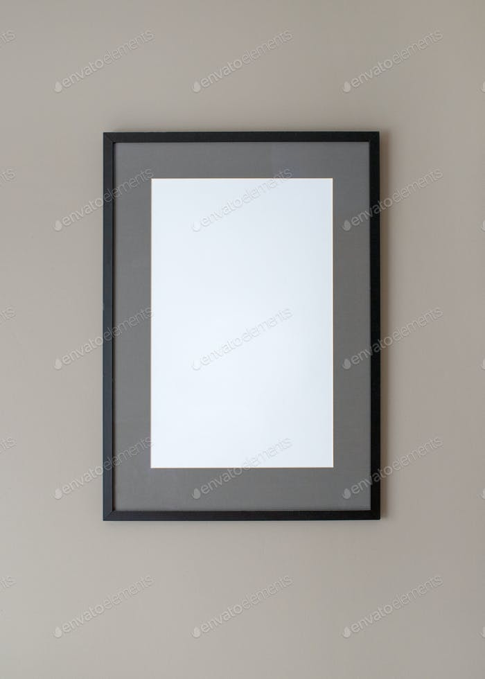 Black frame on wall