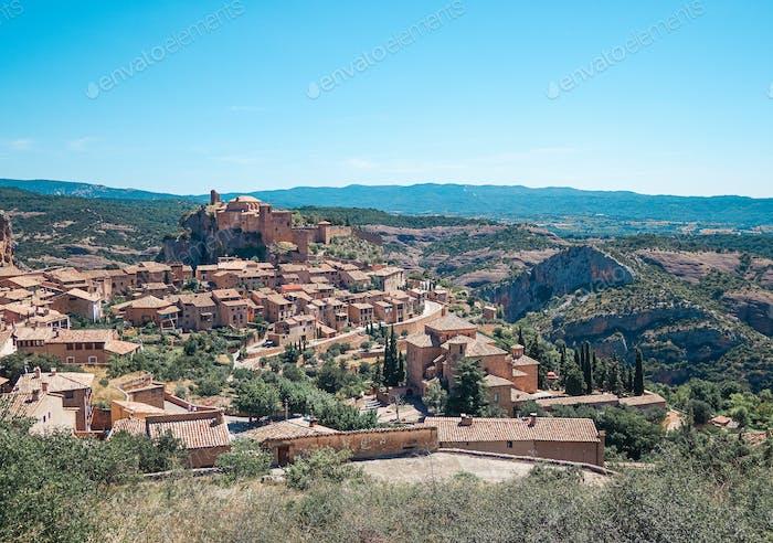 Alquezar Dorf in Huesca, Spanien