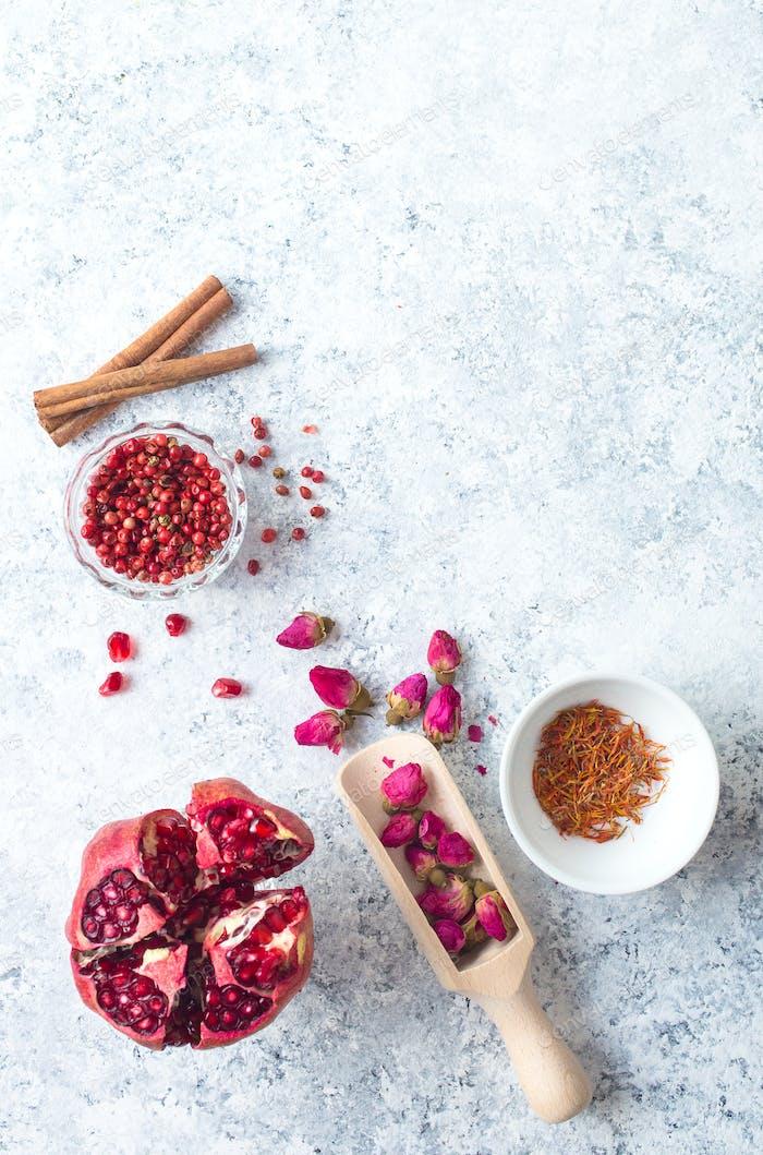 Arab ingredients for middle eastern food