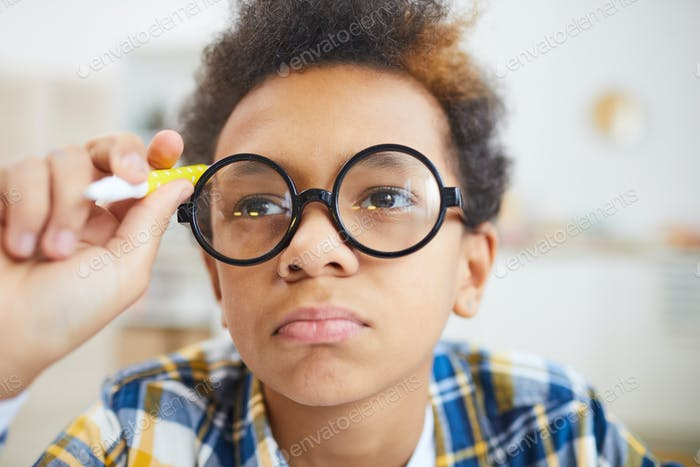 African Boy Wearing Glasses