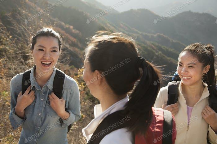Women hiking, portrait