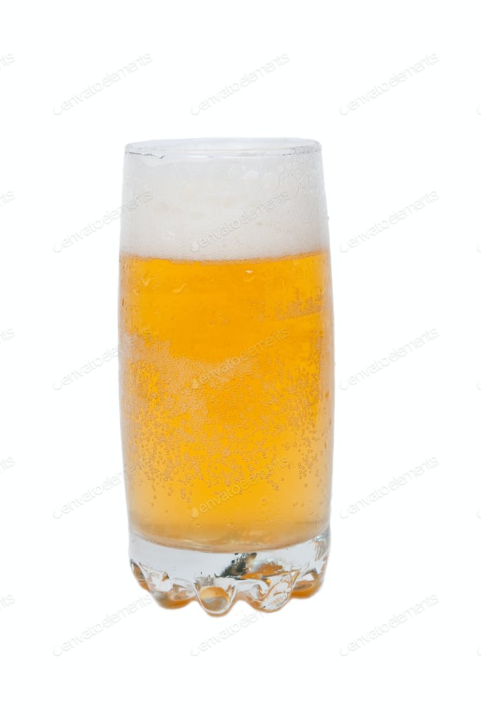 Frosty glass of  beer