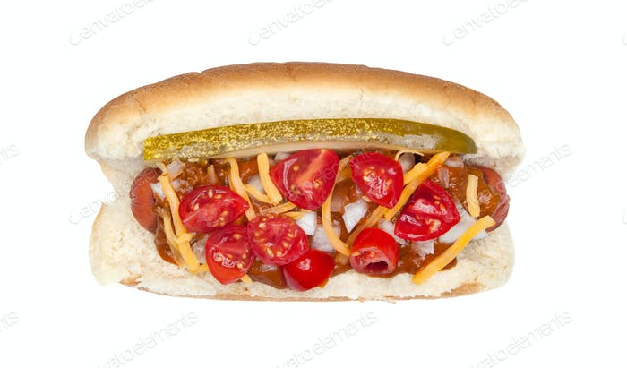 Hotdog with the works