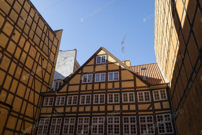 Timber framed building in Copenhagen, Denmark