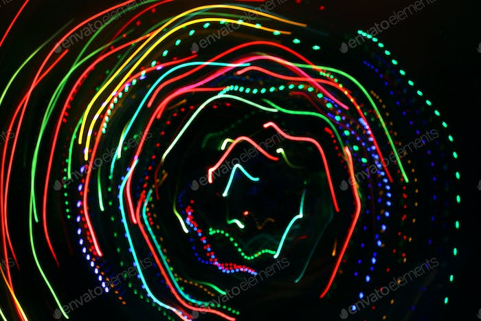 Abstrakte bunte Motion Lights Hintergrund
