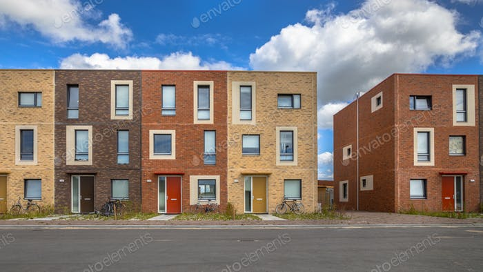 Modern Social housing apartments