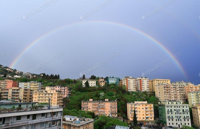rainbow over Genova