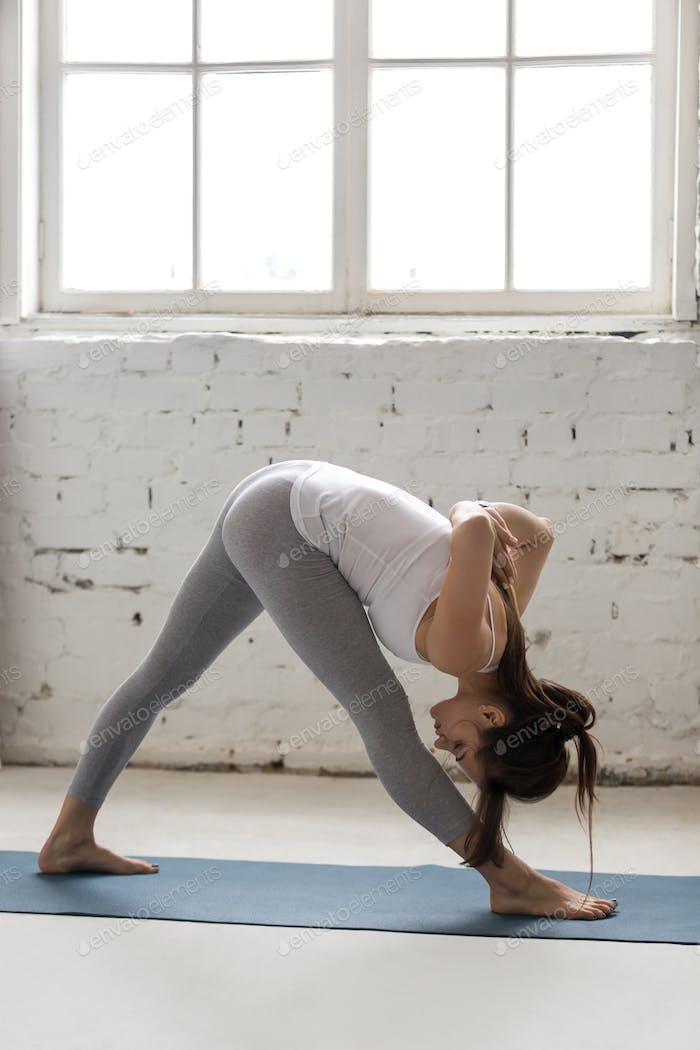 Yoga Indoors: Parshvottanasana Pose