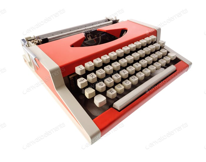 Little orange typewriter
