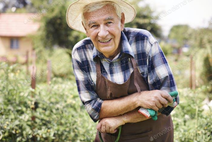 Arbeiten mit großer Liebe für die Gartenarbeit