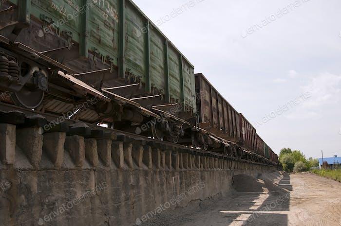 railway truck parked