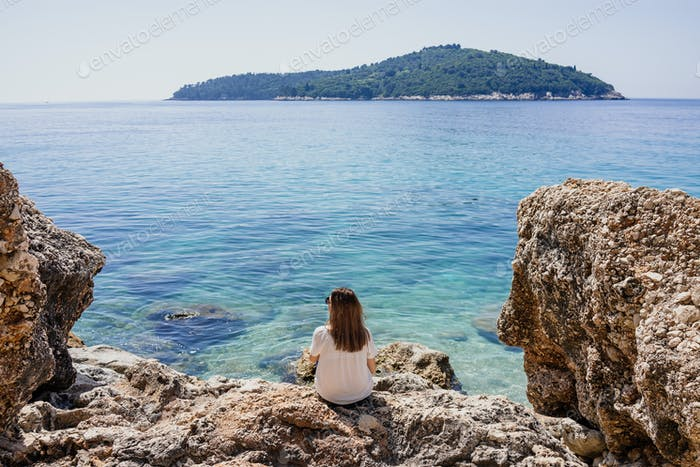 Woman by the Adriatic sea
