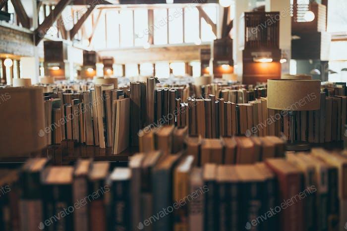 Libros en grandes bibliotecas públicas para el público