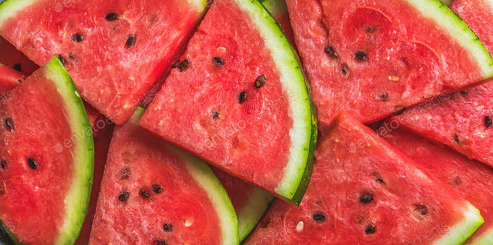 Sliced watermelon.