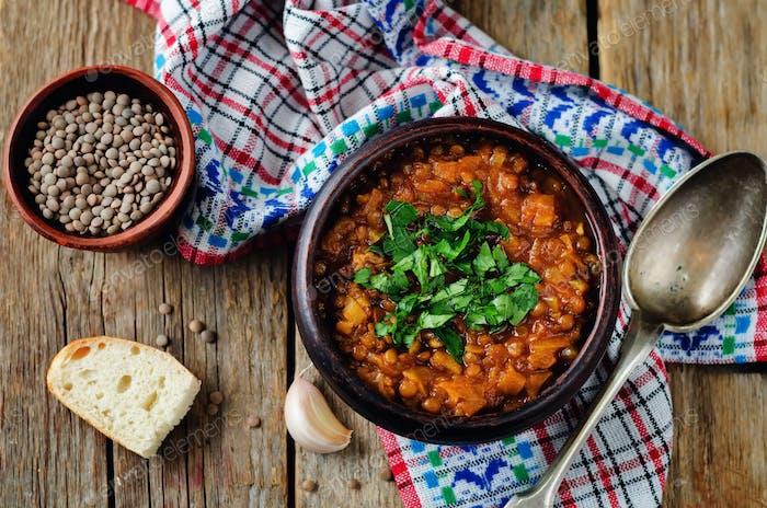Cabbage Lentil stew