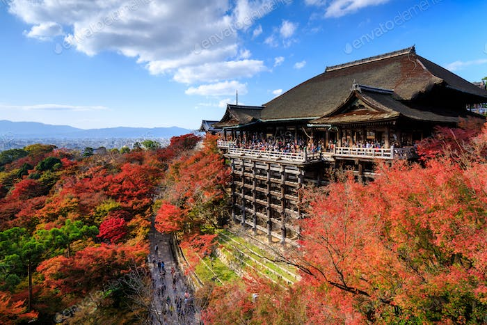 Kiyomizu dera temple in autumn, Kyoto, Japan