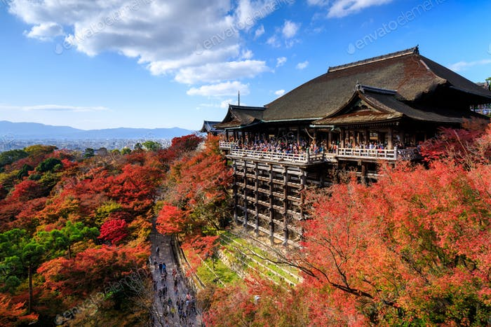 Kiyomizu dera Tempel im Herbst, Kyoto, Japan